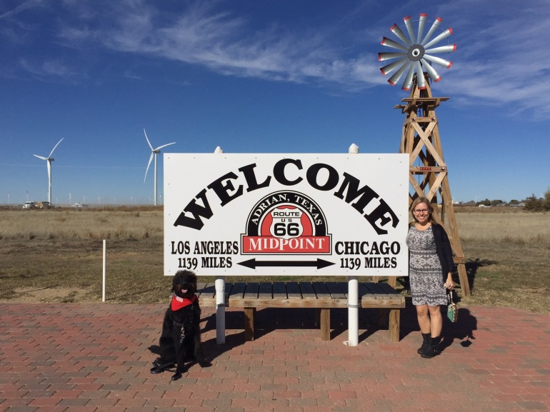 We still got to pause and pose in front of the famous Midpoint sign. I realized later that this is quite the symbolic stop as we are midway through this cross-country journey, and I am also about midway through my pregnancy.
