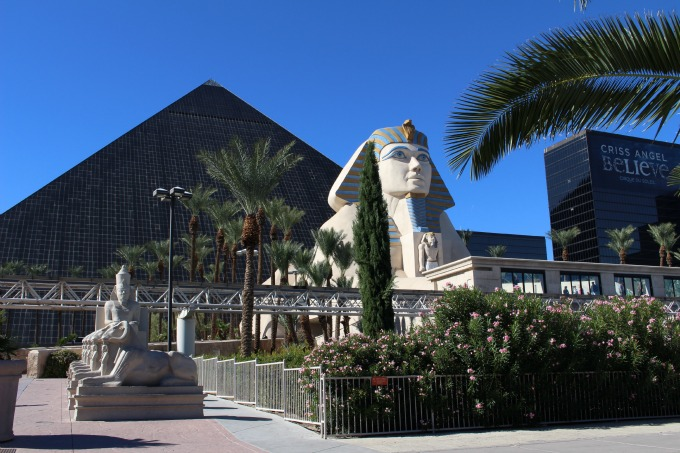 The Luxor's architecture lures you in from the boulevard.