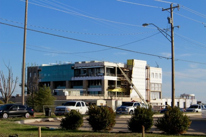 Moore Medical Center only halfway through its rebuild after the 2013 F5 tornado.
