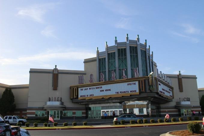 Warren Theatre was tangled and crushed by the twister, only to stand big and bright today.